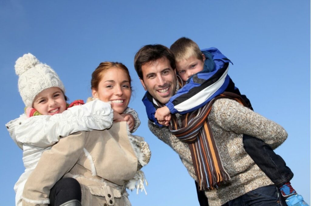 Family Outing To The Snow