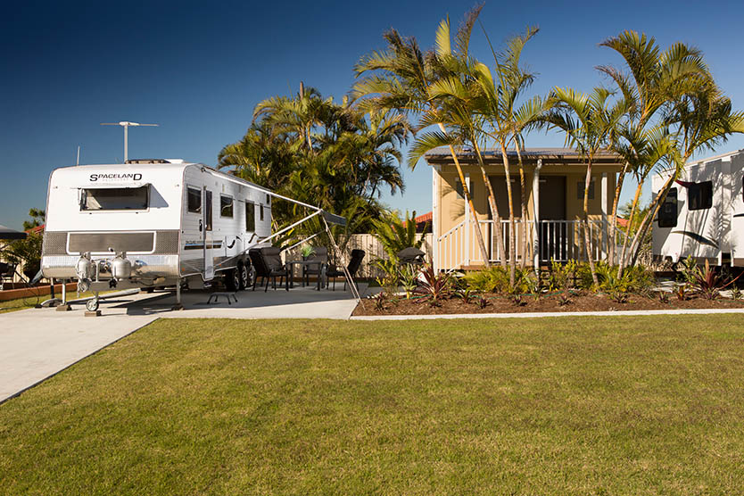 Extra large caravan ensuite site at Brisbane Holiday Village