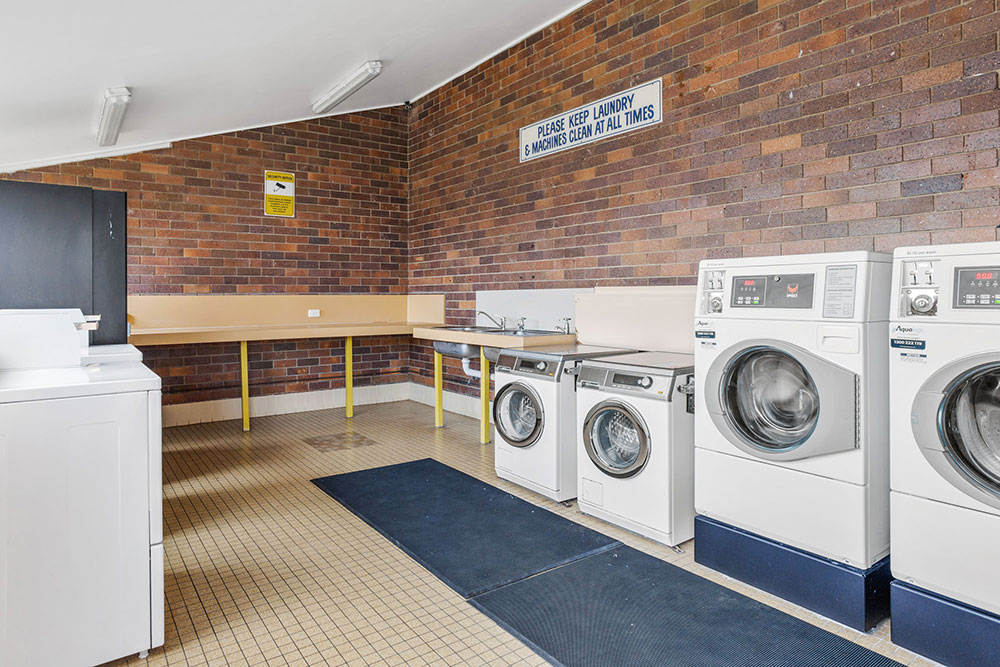 Laundry at the amenities block at Brisbane Holiday Village