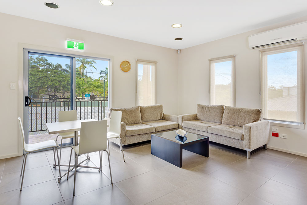 Welcome lounge area at Brisbane Holiday Village