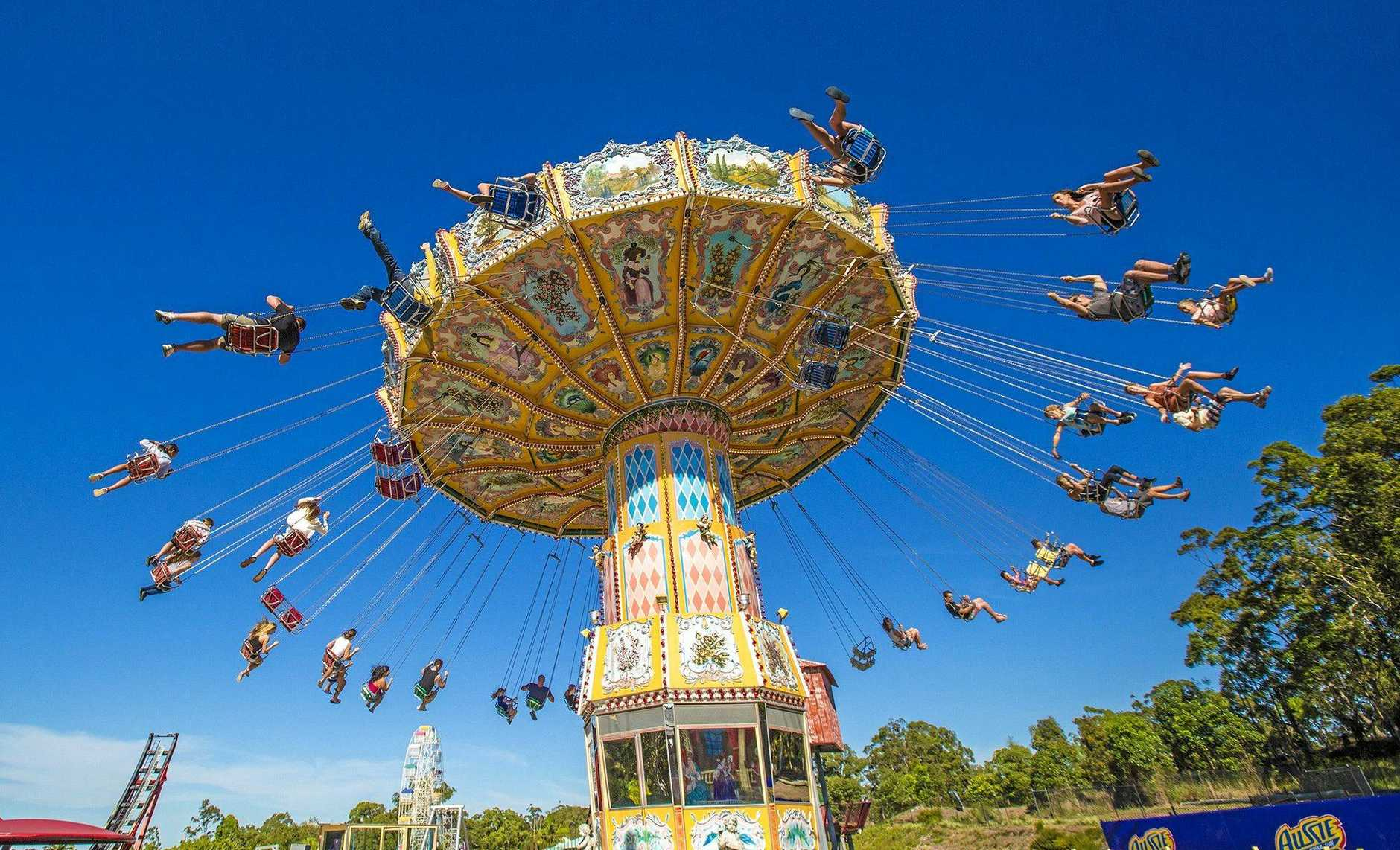 Giant swing ride at Aussie World in the Sunshine Coast