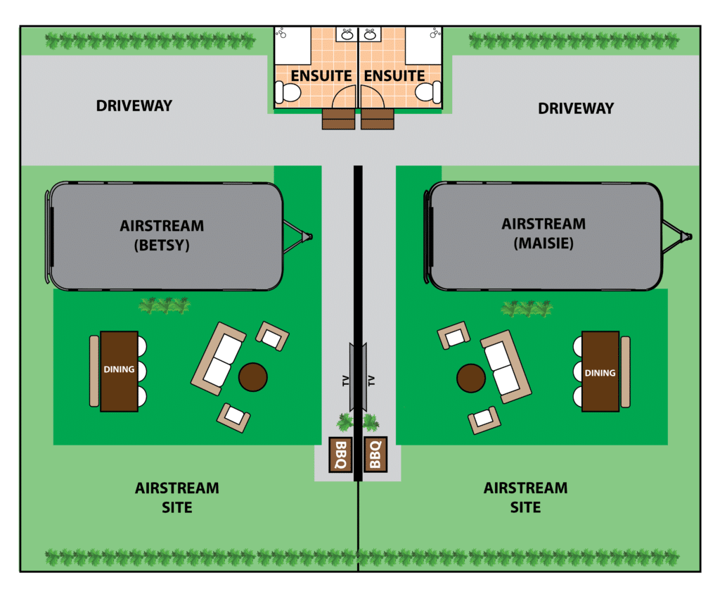 Airstream Site Layout. Concept art from Brisbane Holiday Village