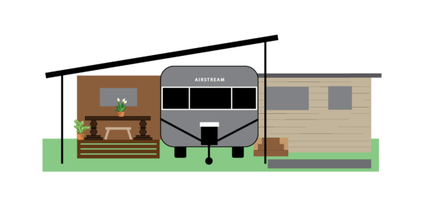 Front View of Airstream Sites