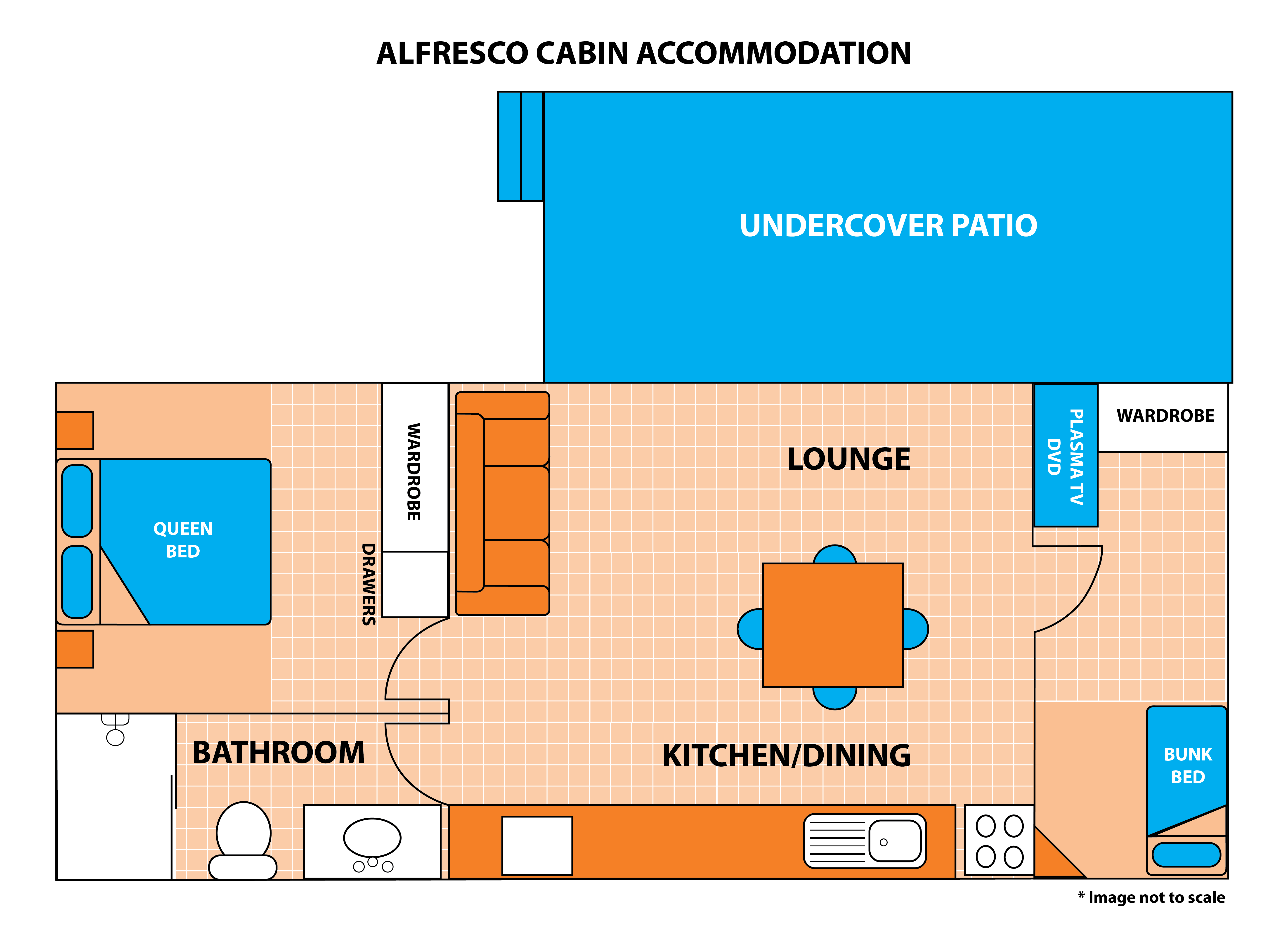 Alfresco Cabin Floor Plan