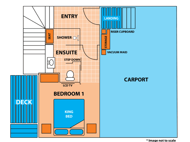 Penthouse Cabin Floor Plan - Ground Level