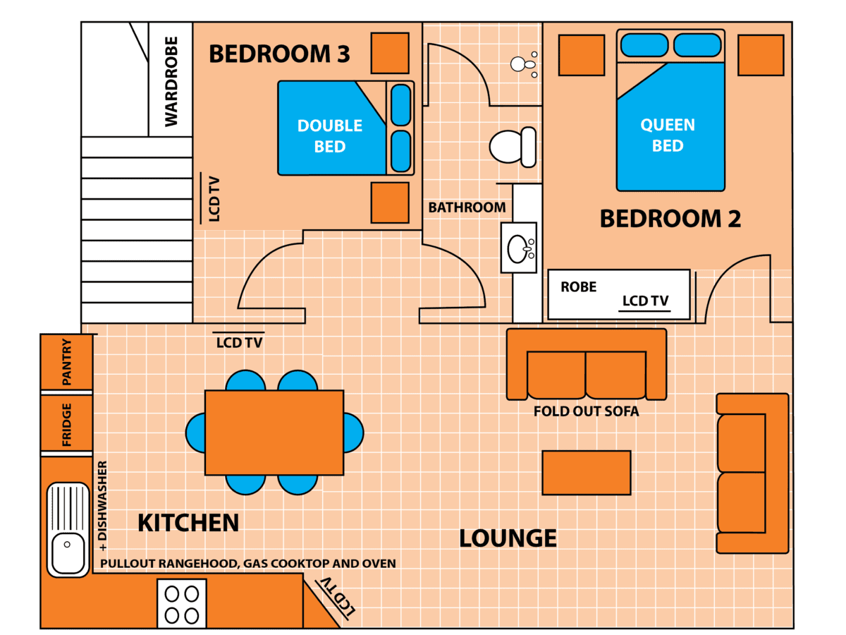 Penthouse Cabin Floor Plan - Level 2