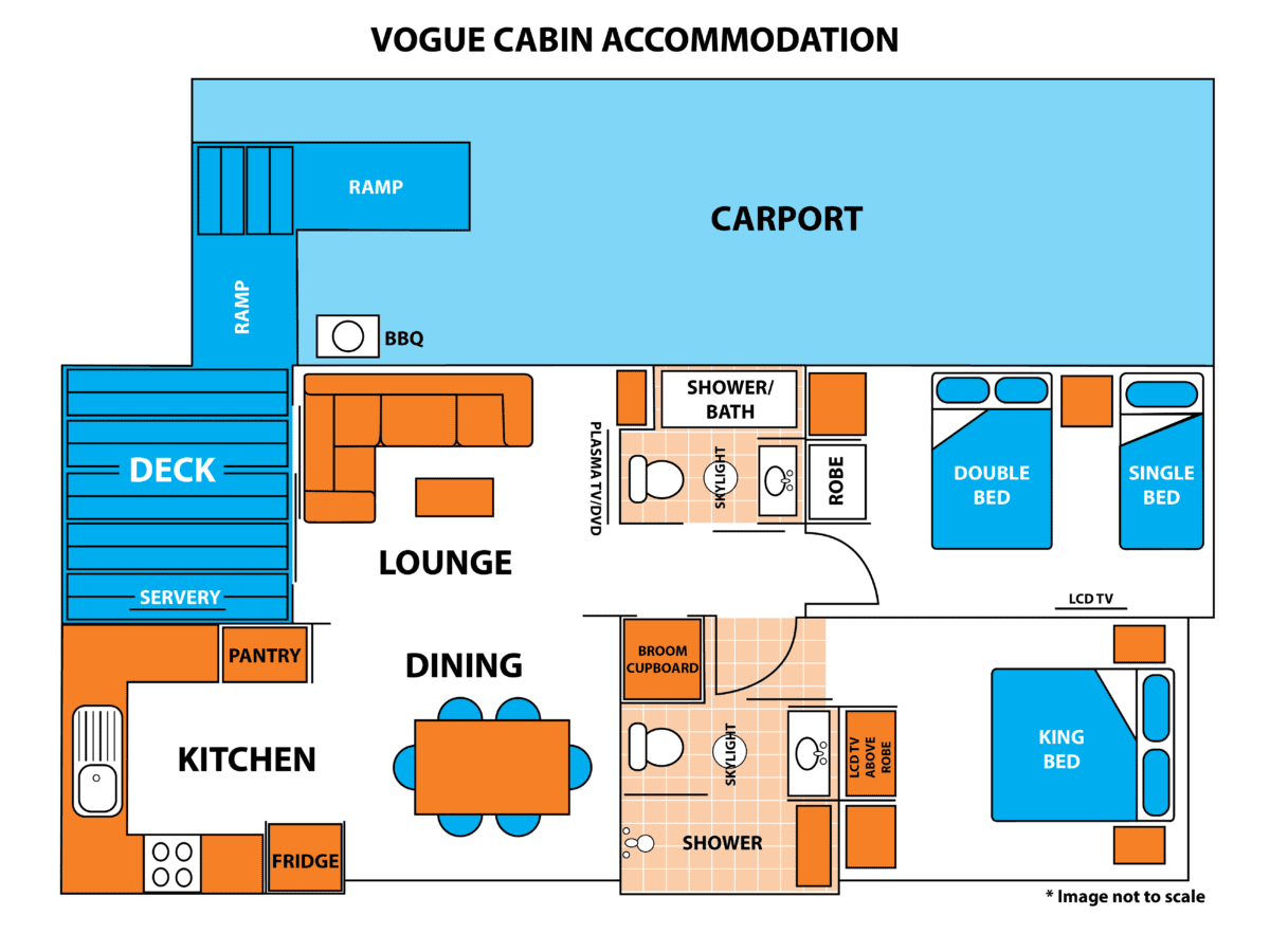 Vogue Cabin Floor Plan