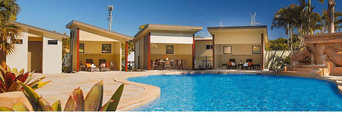 Long Term Caravan Parks Brisbane Poolside View